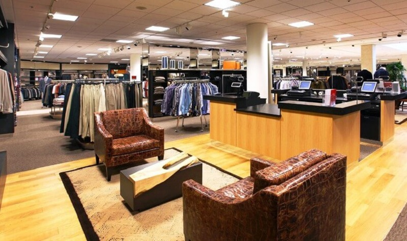 Interior da loja Nordstrom em Orlando
